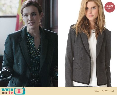 Agents of SHIELD fashion: Rag & Bone Harrow Blazer worn by Elizabeth Henstridge