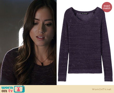 Agents Of SHIELD Fashion: Rag & Bone Belarus Sweater worn by Chloe Bennett