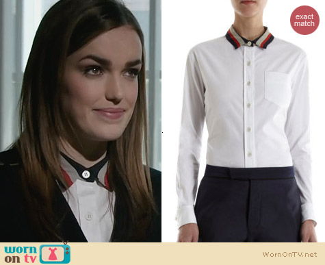 Agents of SHIELD Fashion: SEA Contrast Collar shirt worn by Elizabeth Henstridge