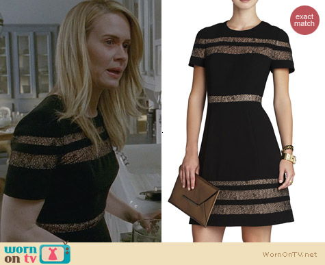 AHS Fashion: Bcbgmaxazria Kalli Dress worn by Sarah Paulson