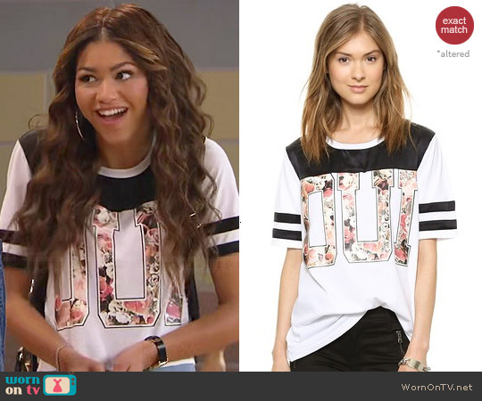 Aiko  Antoine Tshirt in French Garden worn by Zendaya on KC Undercover
