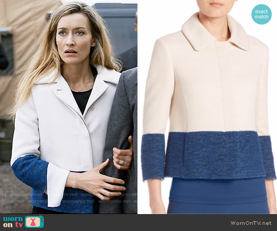 Akris Punto Cropped Colorblock Jacket worn by Natascha McElhone on Designated Survivor