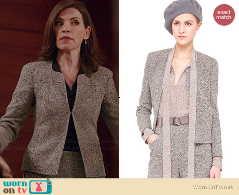 Akris Wool Stretch Tweed Jacket worn by Julianna Margulies on The Good Wife