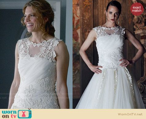 Alberta Ferretti Bridal Forever 2013 Collection Gown worn by Stana Katic on Castle