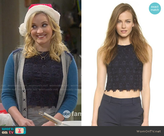 ALC Adriana Lace Top worn by Emily Osment on Young & Hungry