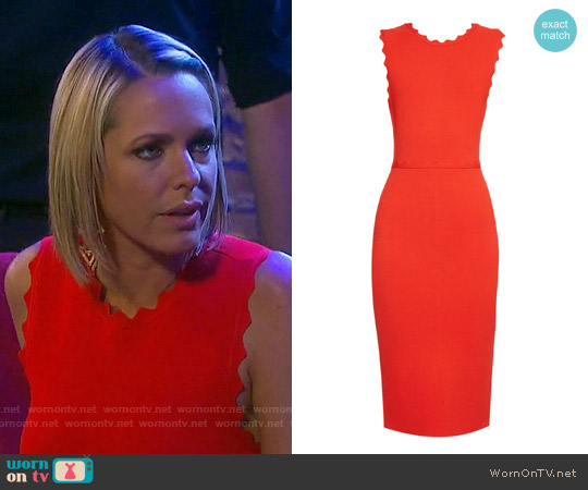 ALC Aldridge Dress in Red worn by Arianne Zucker on Days of our Lives
