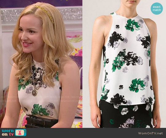 ALC Anise Floral Top worn by Dove Cameron on Liv & Maddie