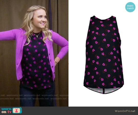 ALC Anise Floral Top worn by Emily Osment on Young & Hungry