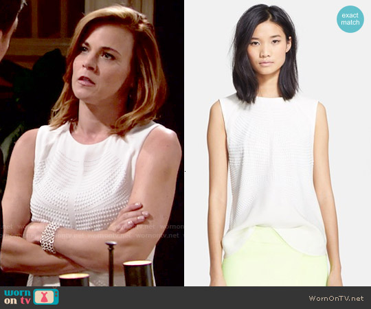 ALC Ascher Top worn by Gina Tognoni on The Young & the Restless