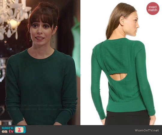 ALC Bline Sweater in Forest worn by Cristin Milioti on A to Z