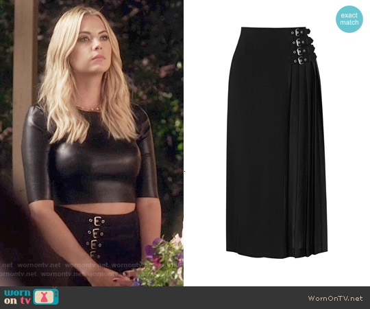 ALC Booth Buckle Embellished Skirt worn by Hanna Marin on PLL