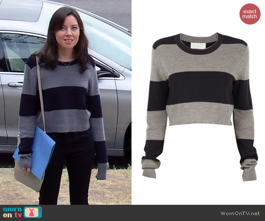 A.L.C. Brandie Sweater worn by Aubrey Plaza on Parks & Rec