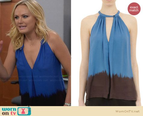ALC Camilla Halter Top worn by Malin Akerman on Trophy Wife