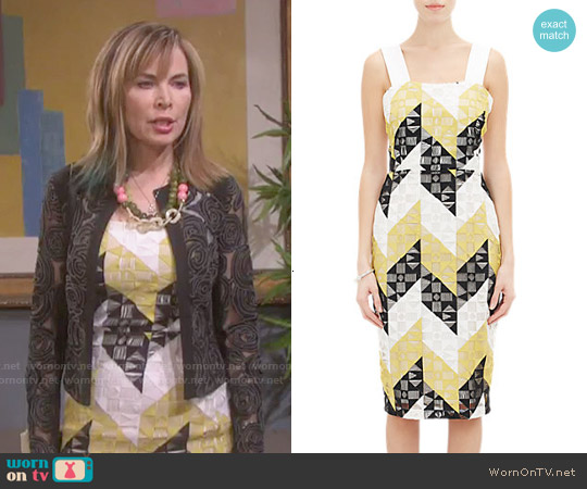 ALC Crochet Overlay Karin Dress worn by Lauren Koslow on Days of our Lives