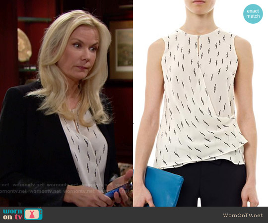 ALC Dae Lightning Bolt Top worn by Katherine Kelly Lang on The Bold & the Beautiful