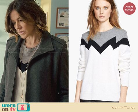 A.L.C. Daniel Sweater worn by Christa Miller on Cougar Town