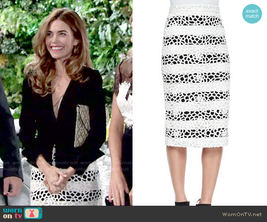 ALC Della Skirt worn by Amelia Heinle on The Young & the Restless