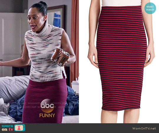 A.L.C. Delmar Striped Skirt worn by Rainbow Johnson on Blackish