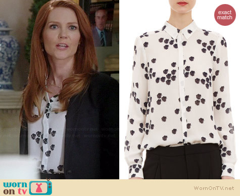ALC Falling Iris Song Blouse worn by Darby Stanchfield on Scandal