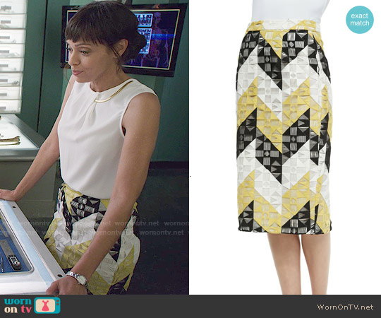 ALC Henri Skirt worn by Tamara Taylor on Bones