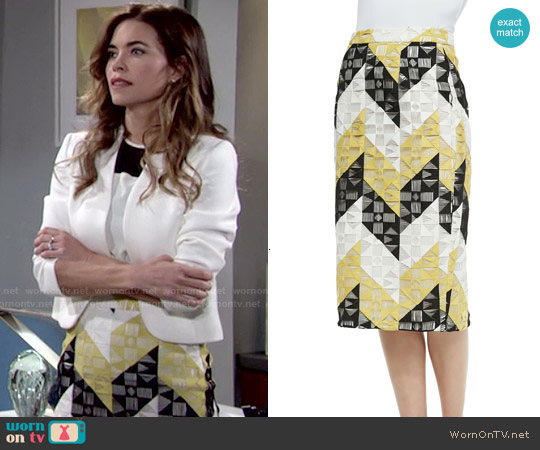 ALC Henri Skirt worn by Amelia Heinle on The Young & the Restless