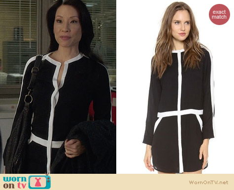 A.L.C. Hess Dress worn by Lucy Liu on Elementary