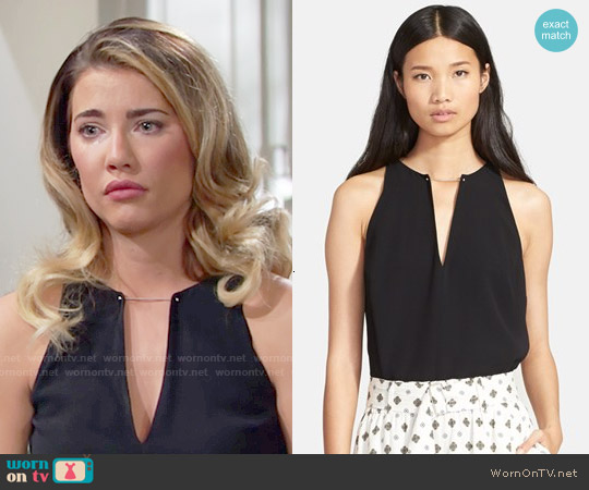 ALC Keaton Top worn by Jacqueline MacInnes Wood on The Bold & the Beautiful