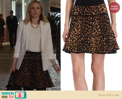 A.L.C. Knit Leopard Skirt worn by Kristen Bell on House of Lies
