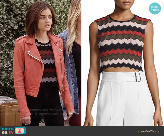 ALC 'Leo' Top in Army/Primrose/Black worn by Lucy Hale on PLL