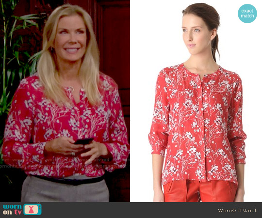 ALC Molly Blouse worn by Katherine Kelly Lang on The Bold & the Beautiful