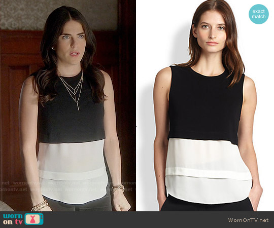 ALC Palmer Top worn by Karla Souza on HTGAWM