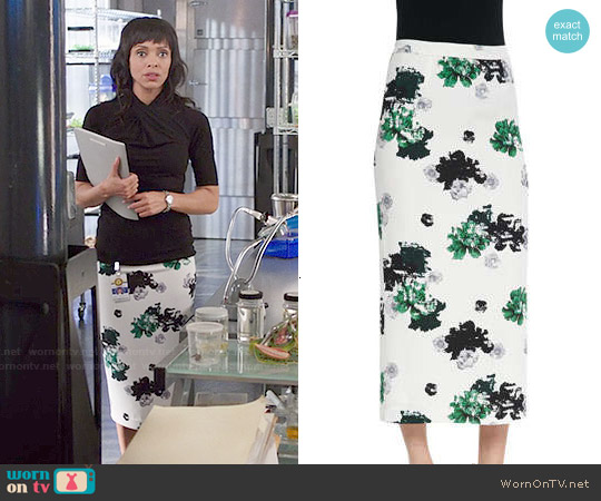 ALC Bell Floral-Print Pencil Skirt worn by Tamara Taylor on Bones