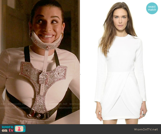 ALC Tolan Dress worn by Lea Michele on Scream Queens