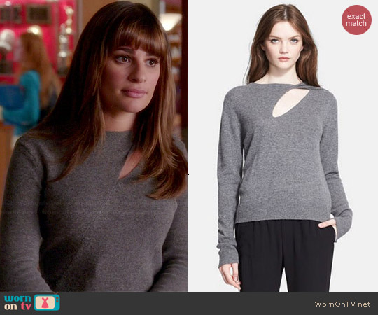 ALC Twist Detail Sweater worn by Lea Michele on Glee