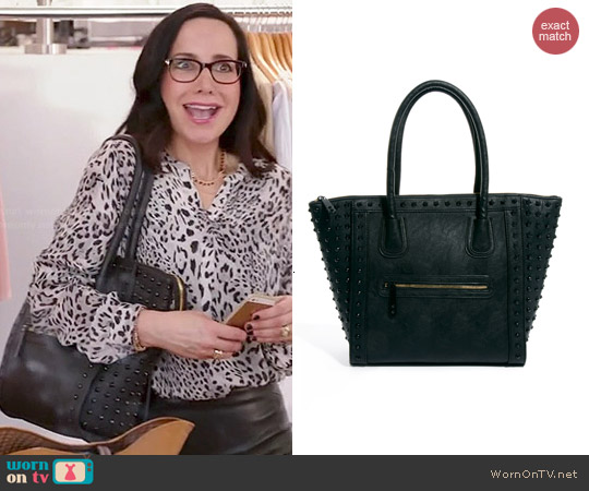 Aldo Folortan Studded Bag worn by Janeane Garofalo on GG2D