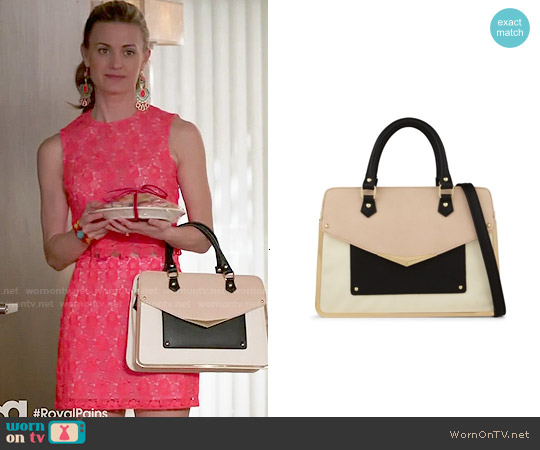 Aldo Banstraw Satchel in Bone worn by Paige Collins on Royal Pains