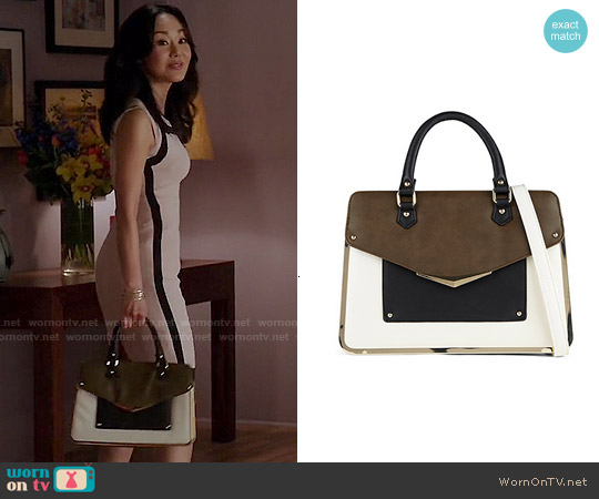 Aldo Banstraw Satchel worn by Karen Rhodes on Mistresses