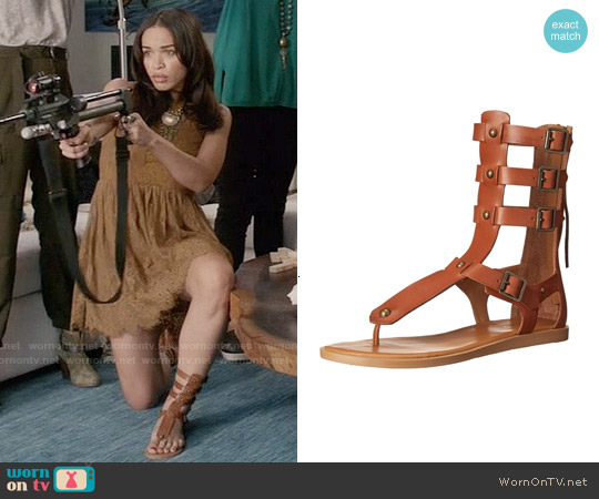 Aldo Livy Gladiator Sandal in Saddle worn by Erica Dundee on Last Man On Earth