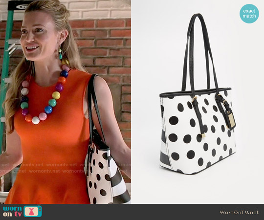 Aldo Mini Spotted Tote worn by Brooke D'Orsay on Royal Pains