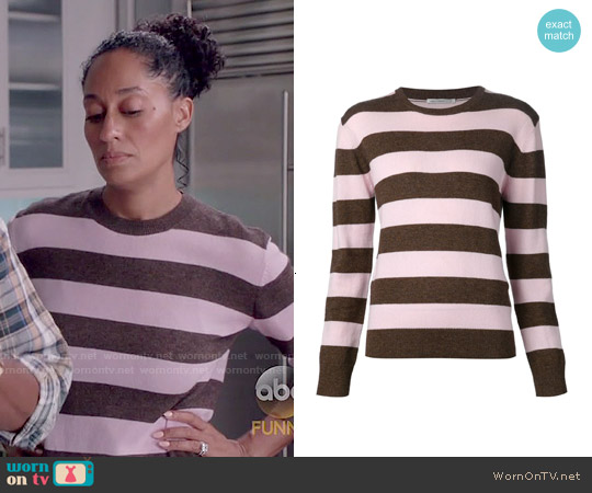 WornOnTV: Rainbow's pink and brown striped sweater on Black-ish ...