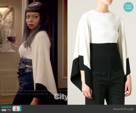 Alexander McQueen 3d Waves Top worn by Taraji P. Henson on Empire