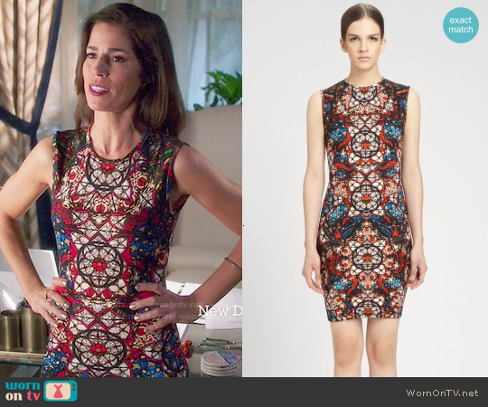 Alexander McQueen Stained Glass Print Sleeveless Dress worn by Ana Ortiz on Devious Maids