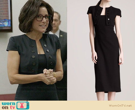 Alexander McQueen Trompe L'Oeil Bolero Dress worn by Julia Louis Drefus on Veep
