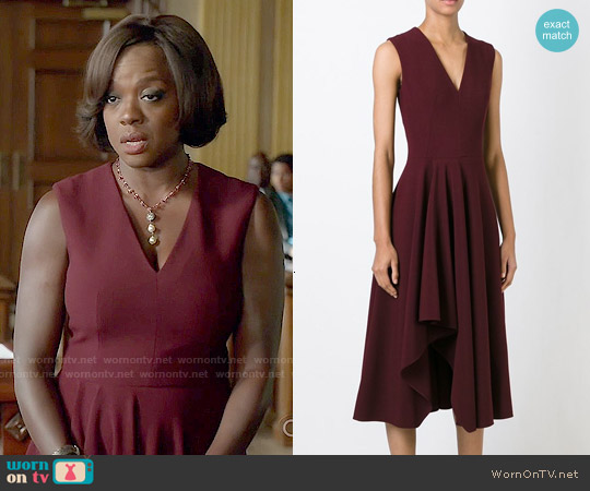 Alexander Mcqueen Asymmetric Drape Dress worn by Viola Davis on HTGAWM