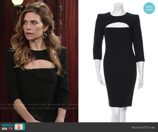 Alexander McQueen Cutout Dress worn by Amelia Heinle on The Young & the Restless