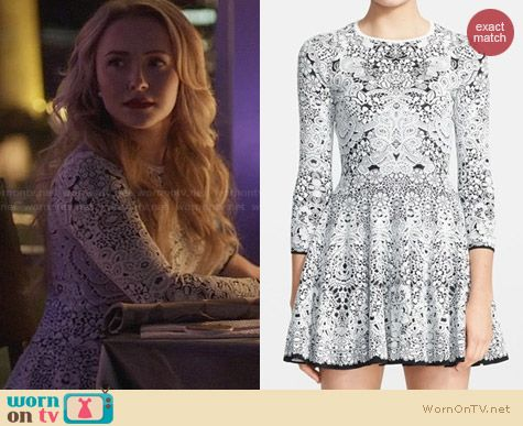 Alexander McQueen Crochet Lace Full Skirt Dress worn by Hayden Panettiere on Nashville