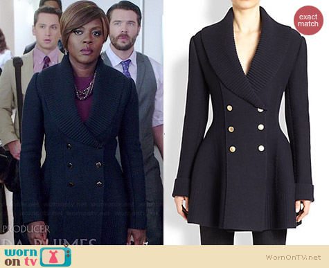 Alexander McQueen Double Breasted Blazer worn by Viola Davis on HTGAWM