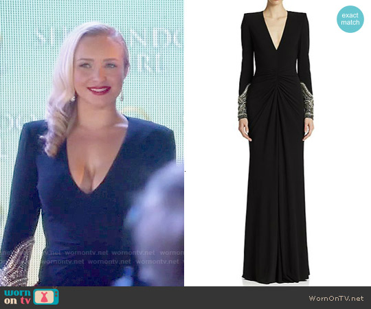 Alexander McQueen Embellished Jersey Gown worn by Hayden Panettiere on Nashville