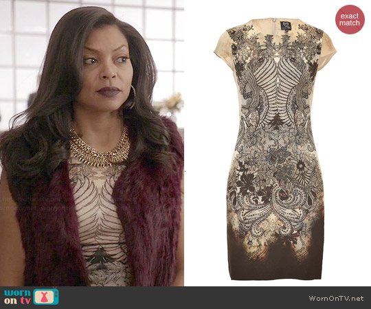 Alexander McQueen Filigree & Lace Print Dress worn by Cookie Lyon on Empire
