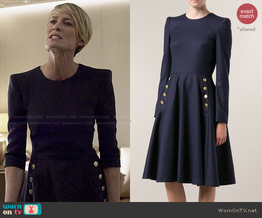 Alexander McQueen Flared Dress worn by Robin Wright on House of Cards